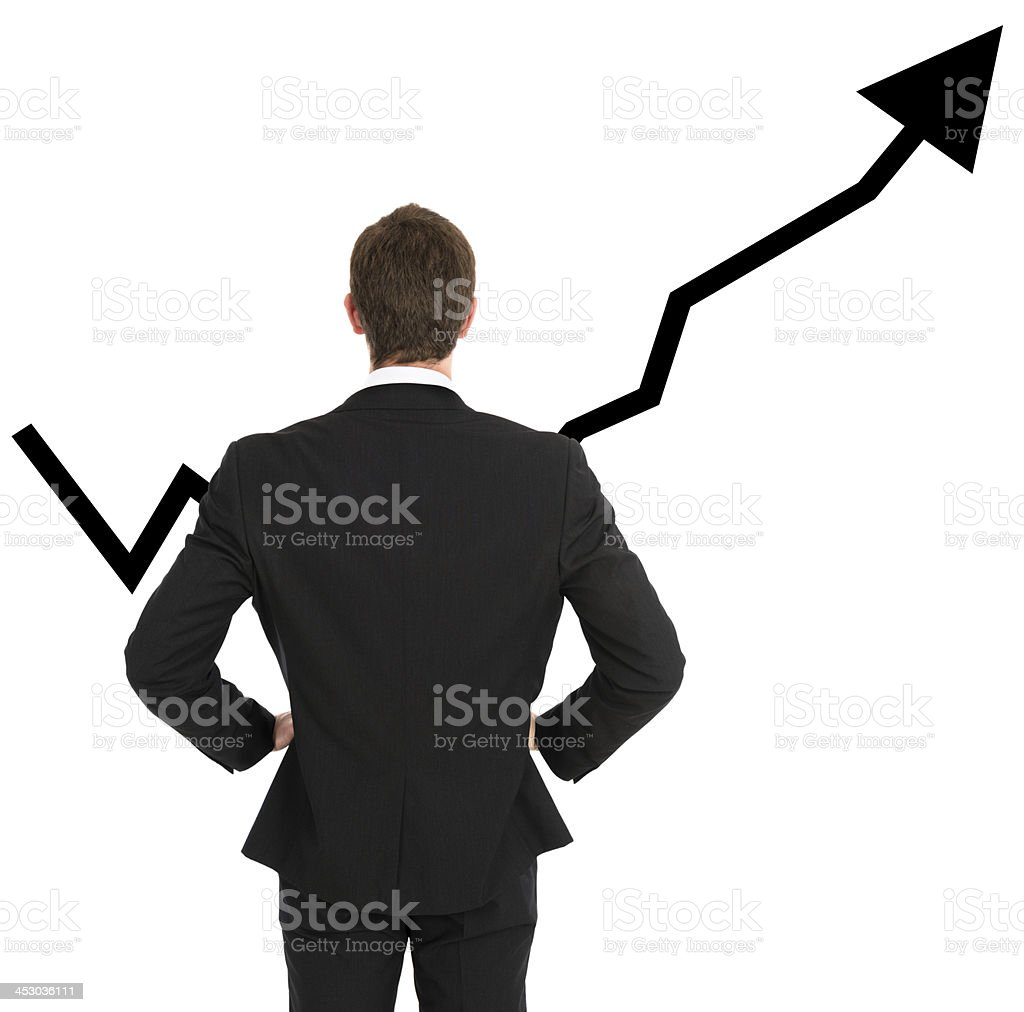 Business man looking the growth royalty-free stock photo
