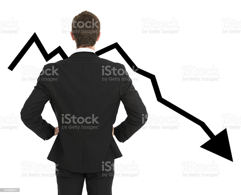 Business man looking the loss stock photo