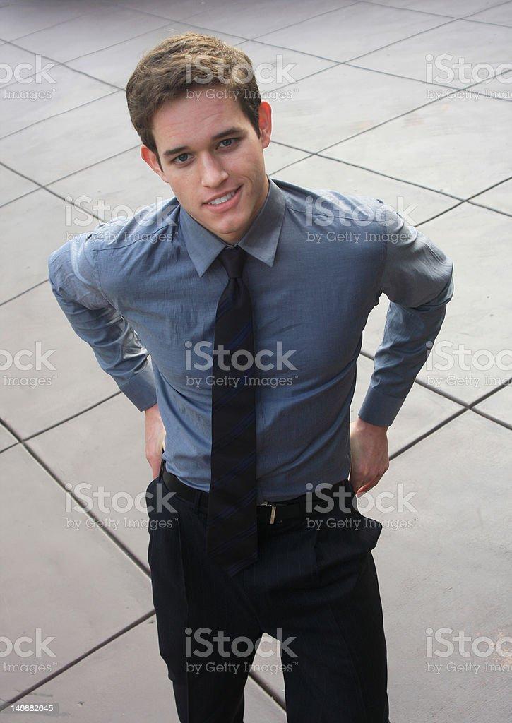 Homme d'affaires à la recherche photo libre de droits
