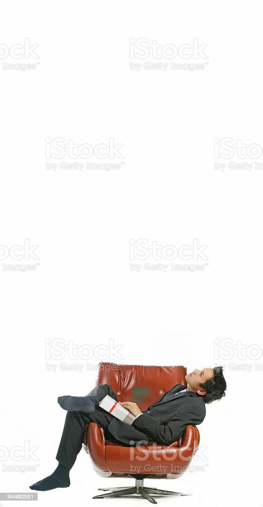 Business - Man looking up stock photo