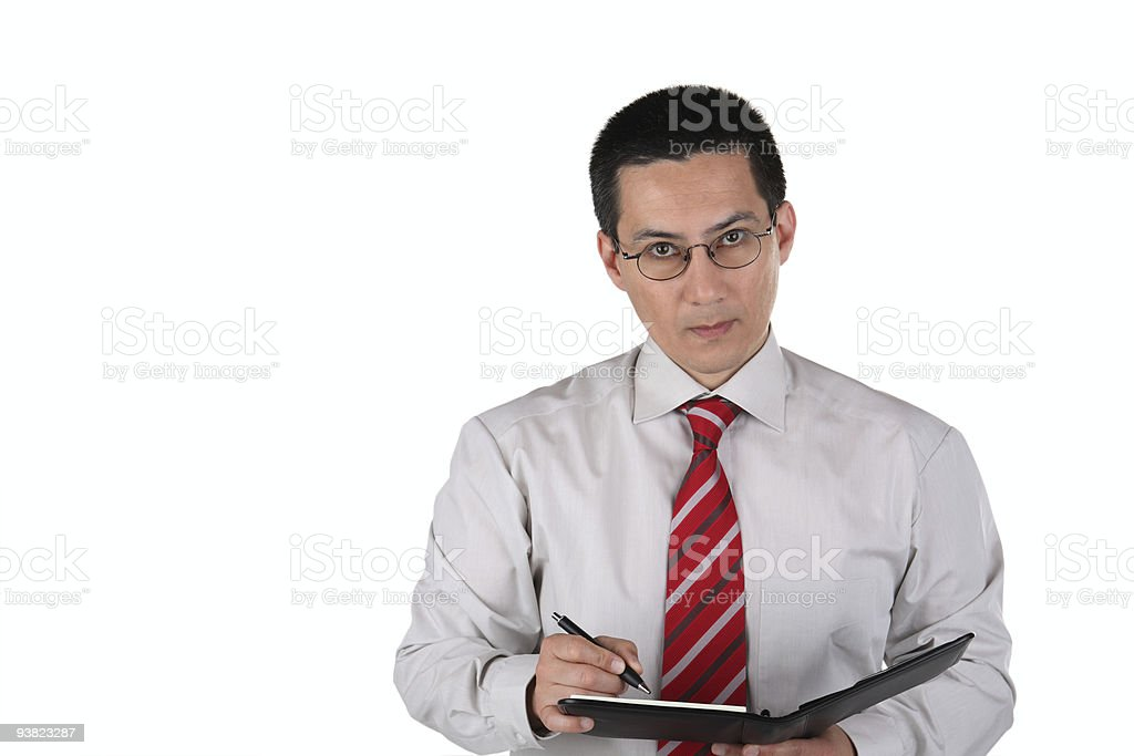 Business Man Making Notes royalty-free stock photo