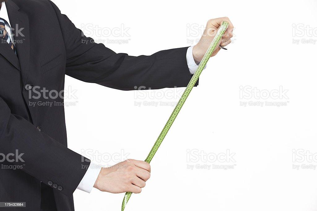 business man measuring something royalty-free stock photo