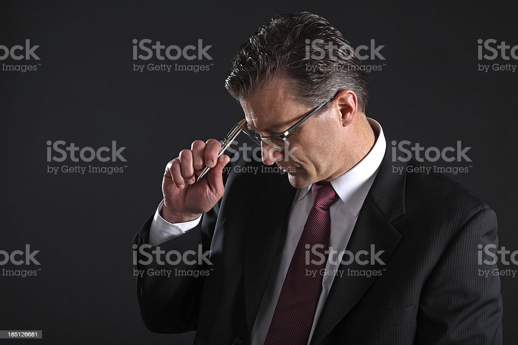 Business Man on a Black Background royalty-free stock photo