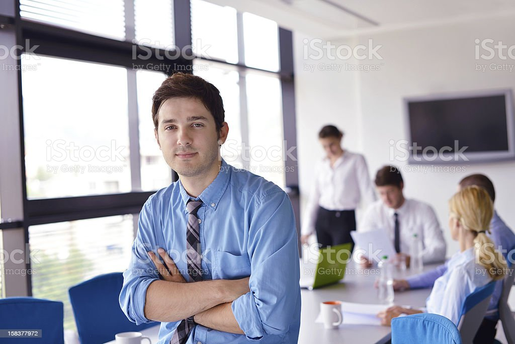 business man  on a meeting in office royalty-free stock photo