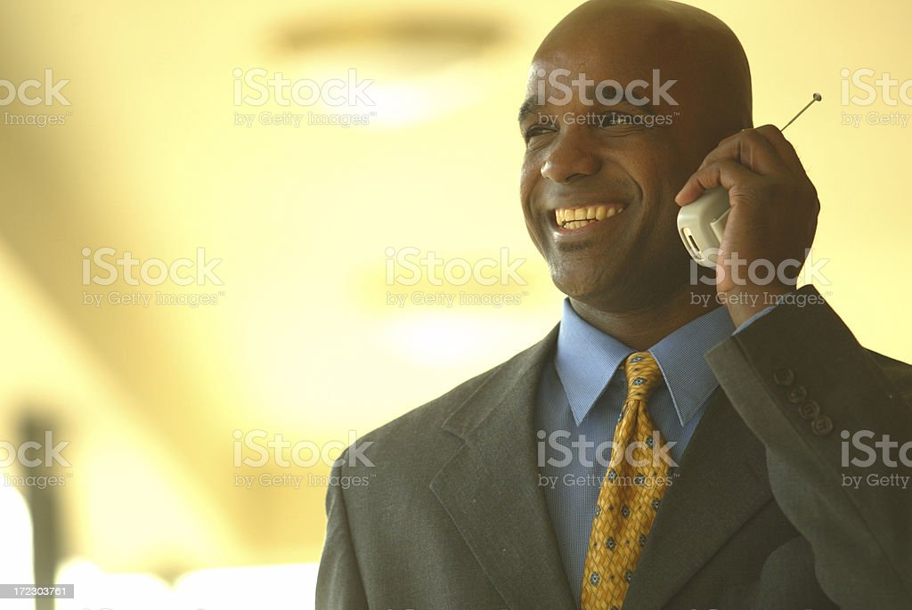 business man on cell phone royalty-free stock photo