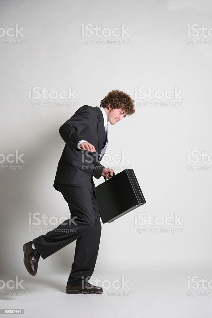 Business man on the move royalty-free stock photo