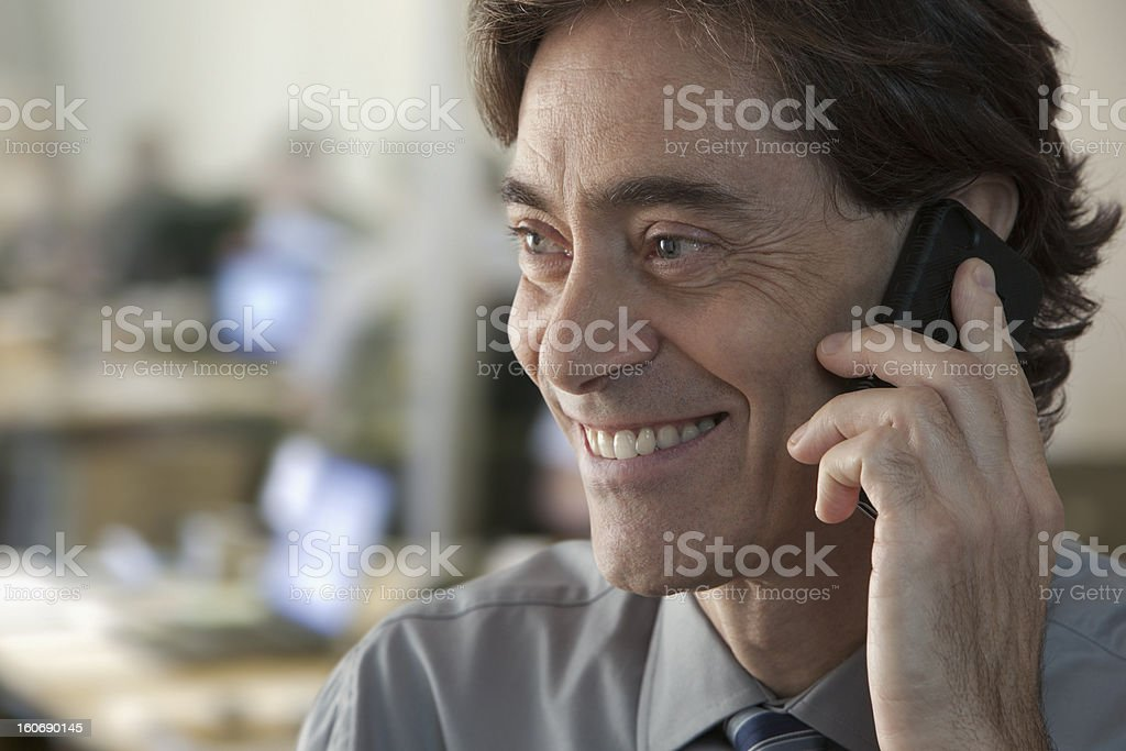 Business man on the phone royalty-free stock photo