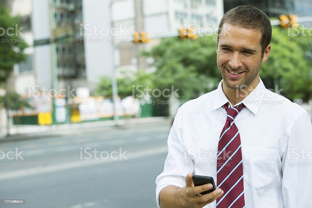 Business Man Outdoors royalty-free stock photo