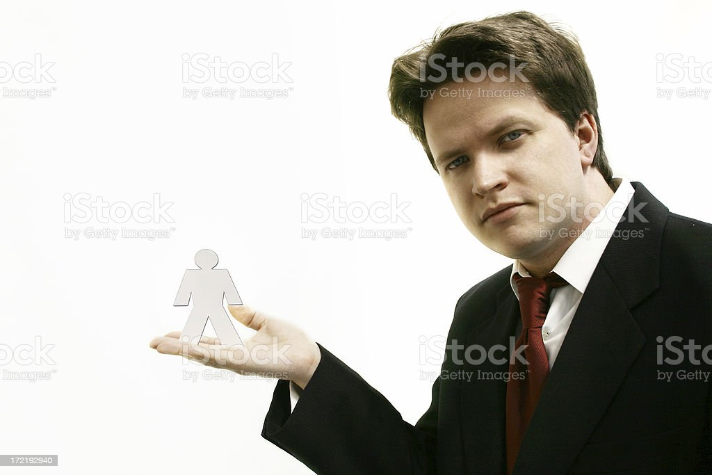 Business man - Personnel Your Hired!!! royalty-free stock photo