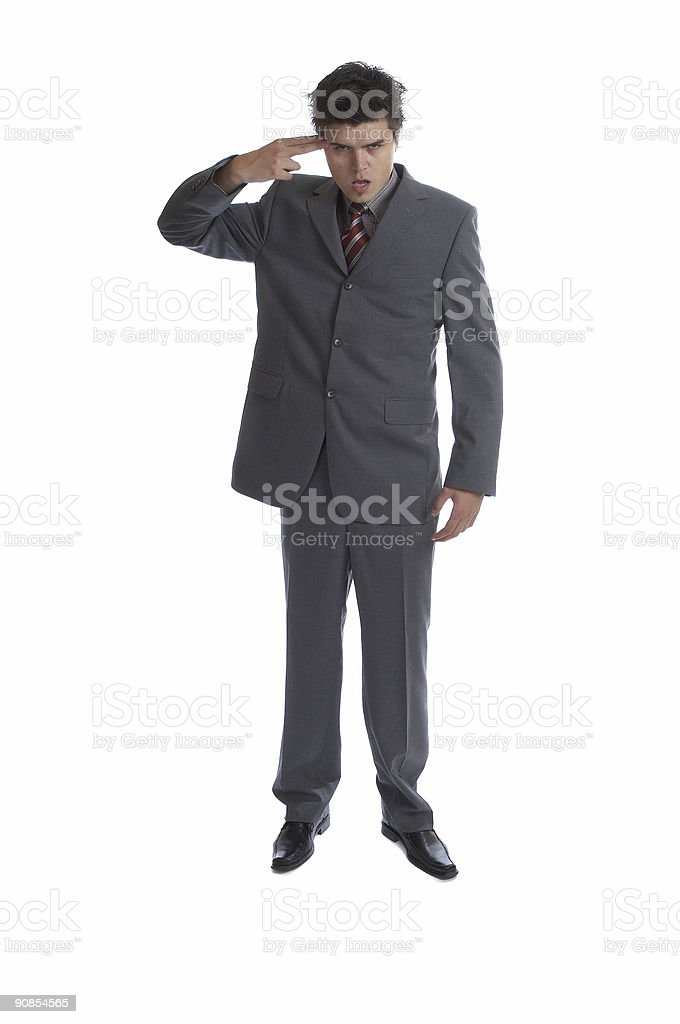 Business Man (the series) royalty-free stock photo