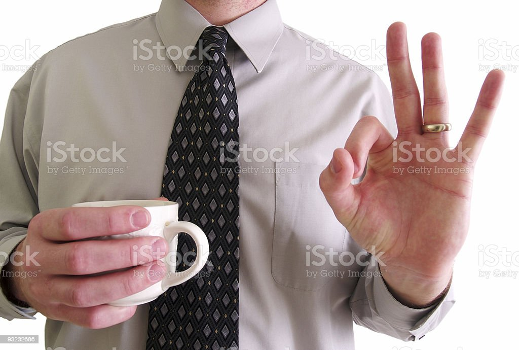 OK Business Man royalty-free stock photo