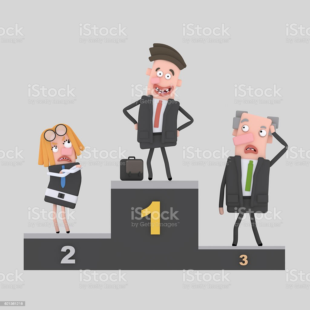 Business man podium. stock photo