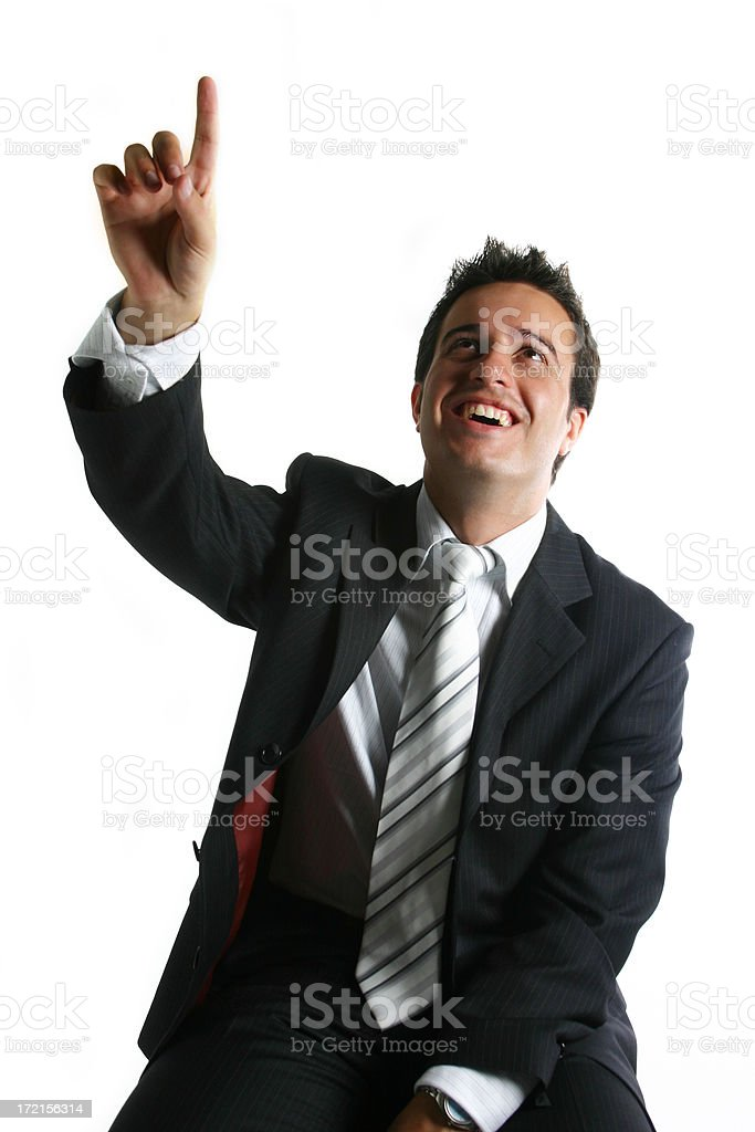 Business man - point up royalty-free stock photo