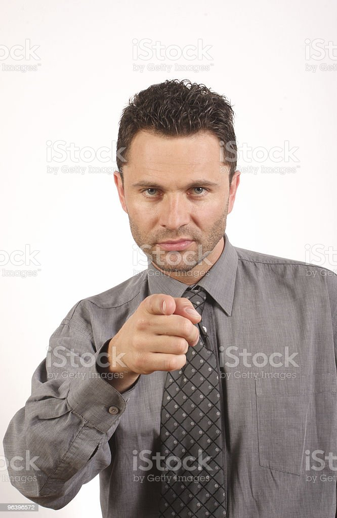 Business man pointing at you royalty-free stock photo