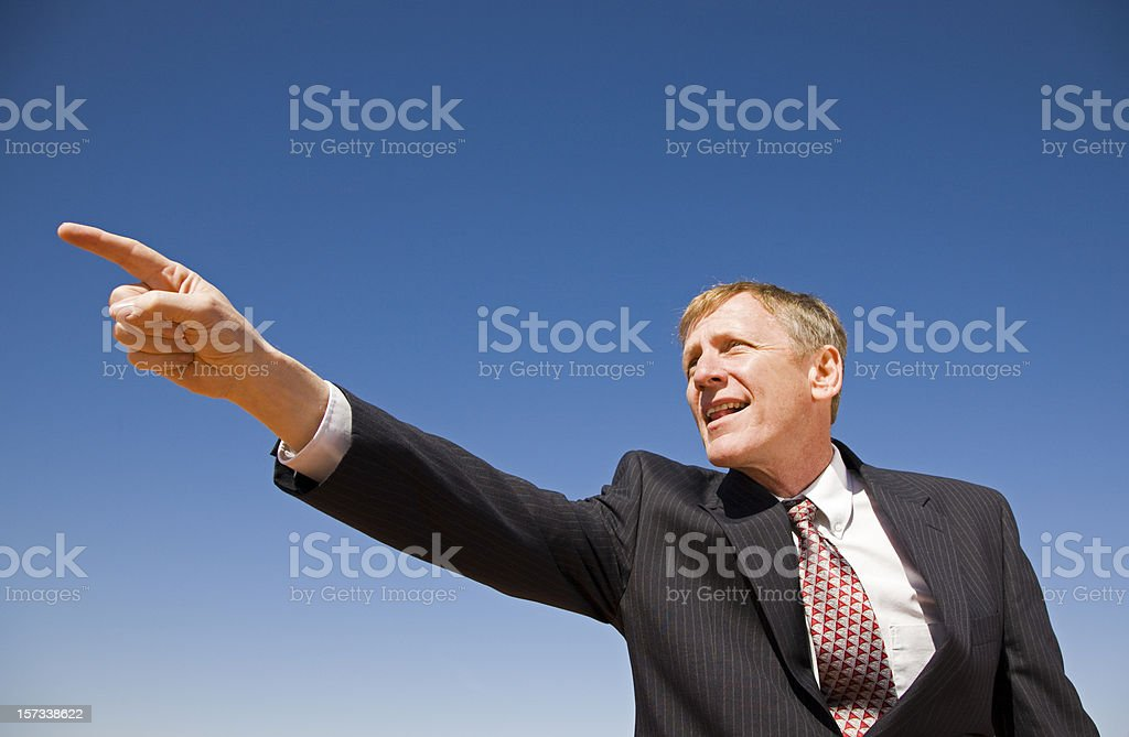 Business Man Pointing The Way royalty-free stock photo