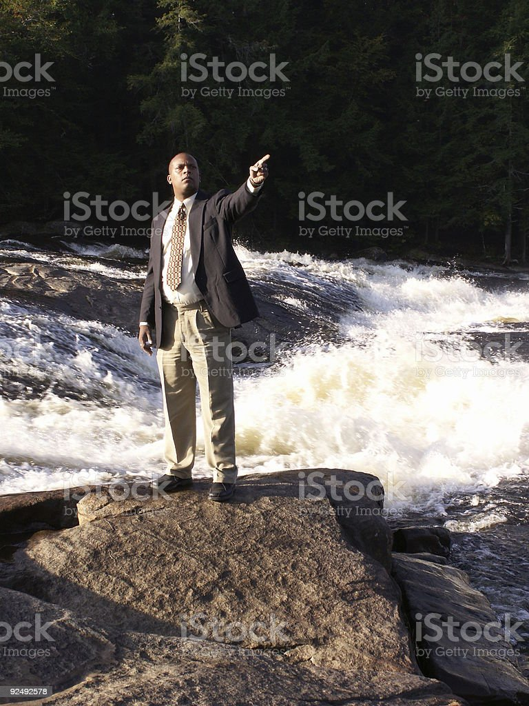 Business man pointing2 stock photo