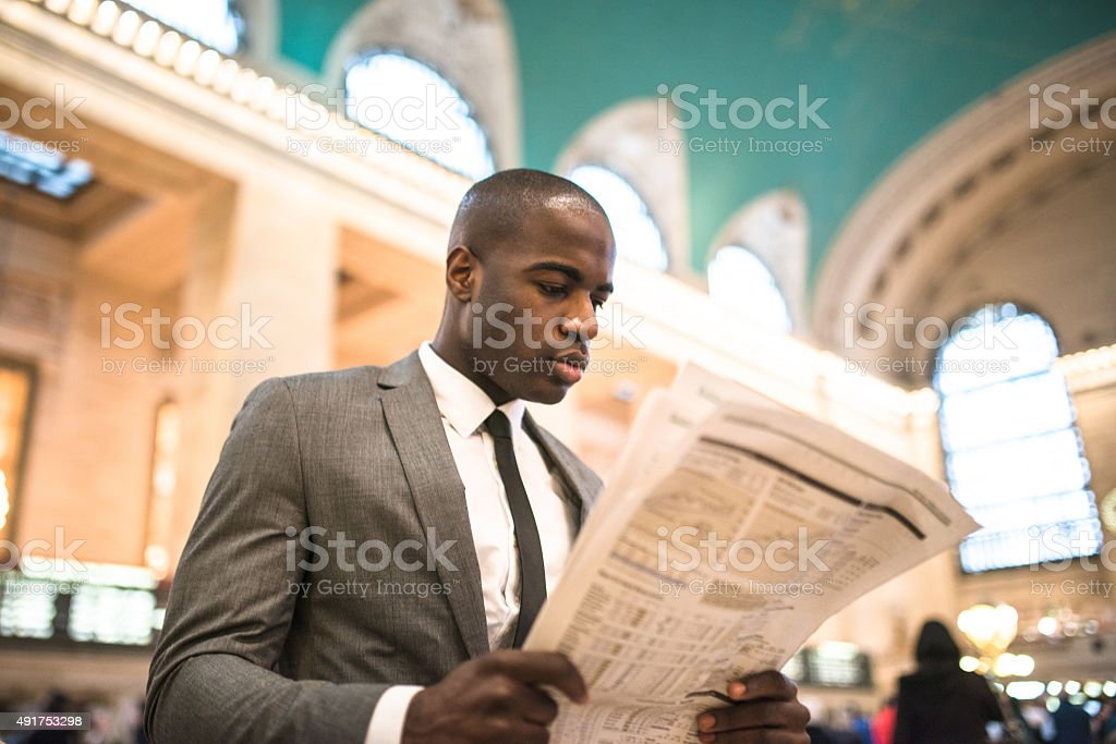 business man portrait in nyc stock photo