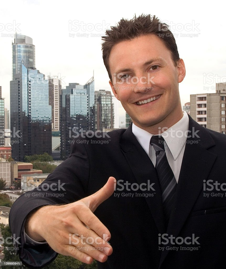 Business Man - Reaching out for a partnerh royalty-free stock photo