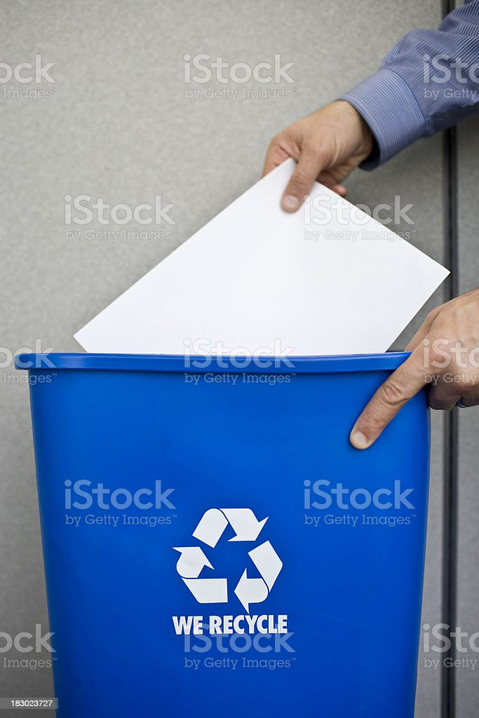 Business man Recycling Paper royalty-free stock photo