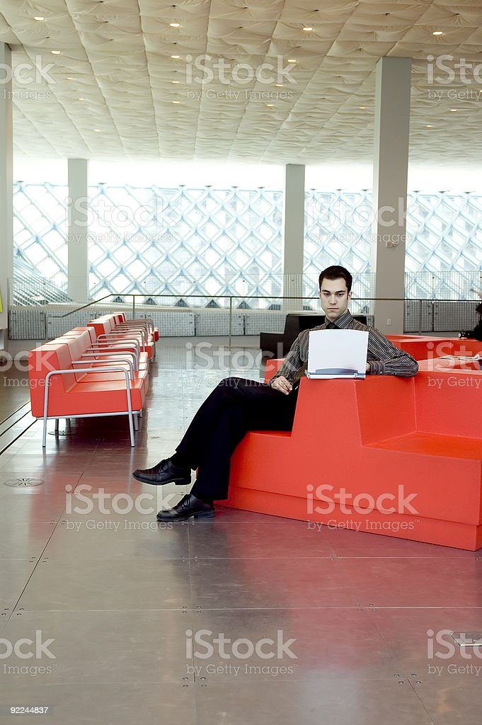 Business Man - Red Chair 2 royalty-free stock photo