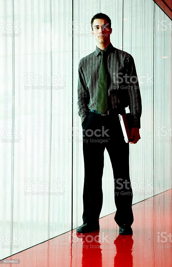 Business Man - Red Room 1 stock photo