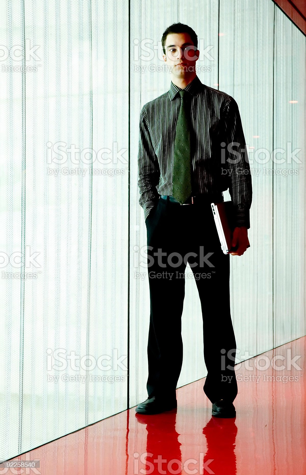 Business Man - Red Room 1 royalty-free stock photo