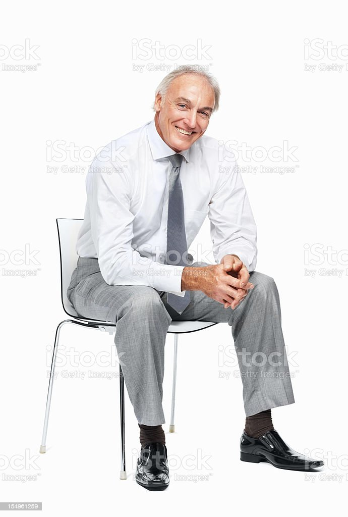 Business man relaxing on chair stock photo