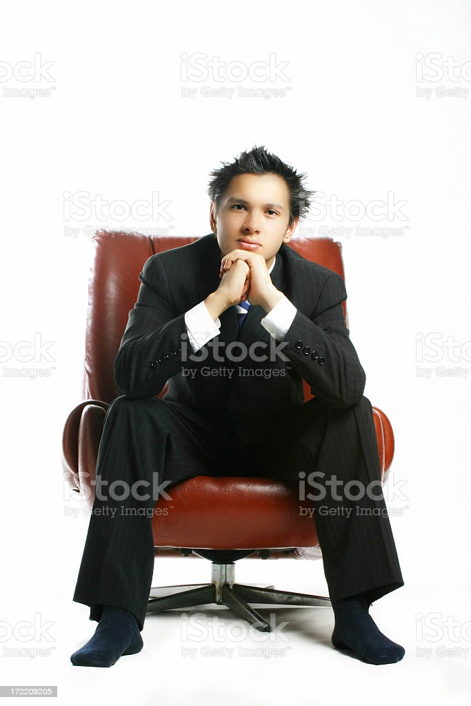 Business man rest on chair royalty-free stock photo