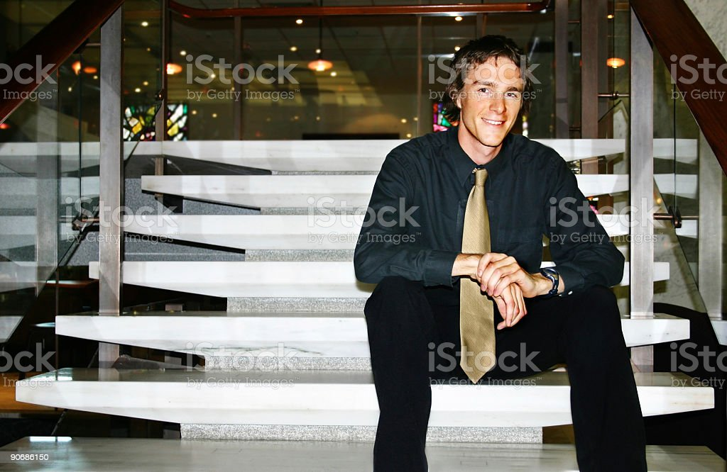 Business - Man resting royalty-free stock photo