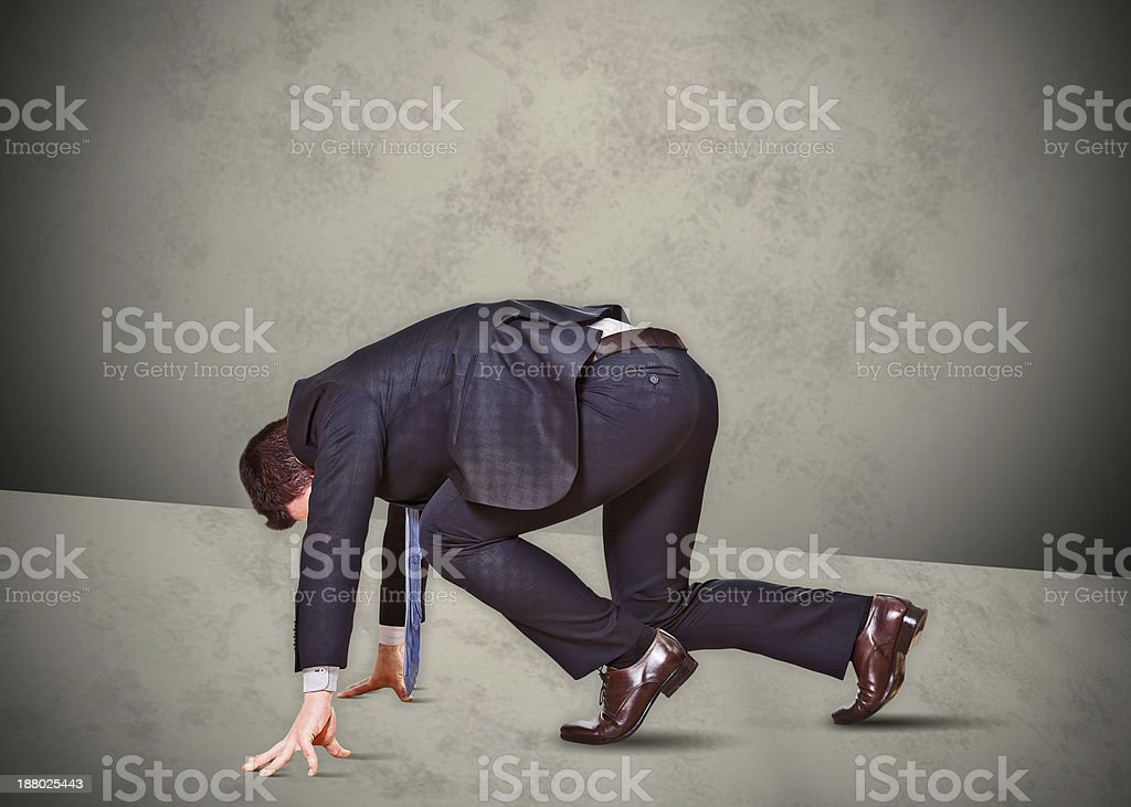 business man runner stock photo
