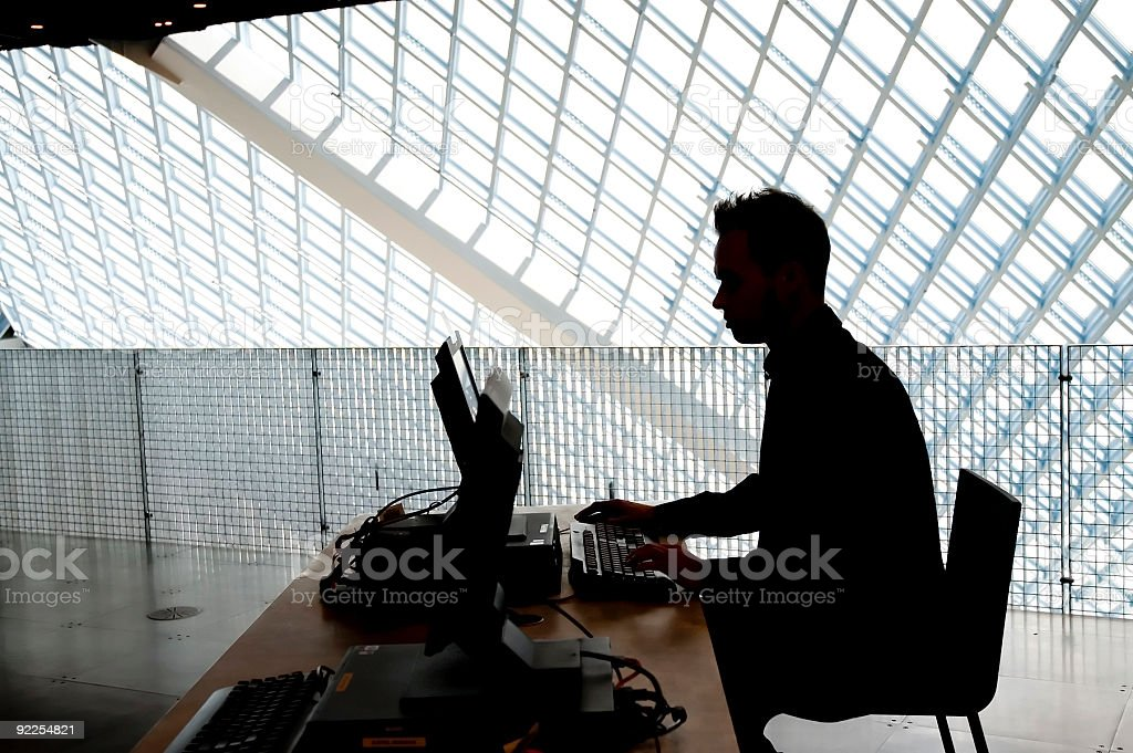 Business Man - Silouette stock photo