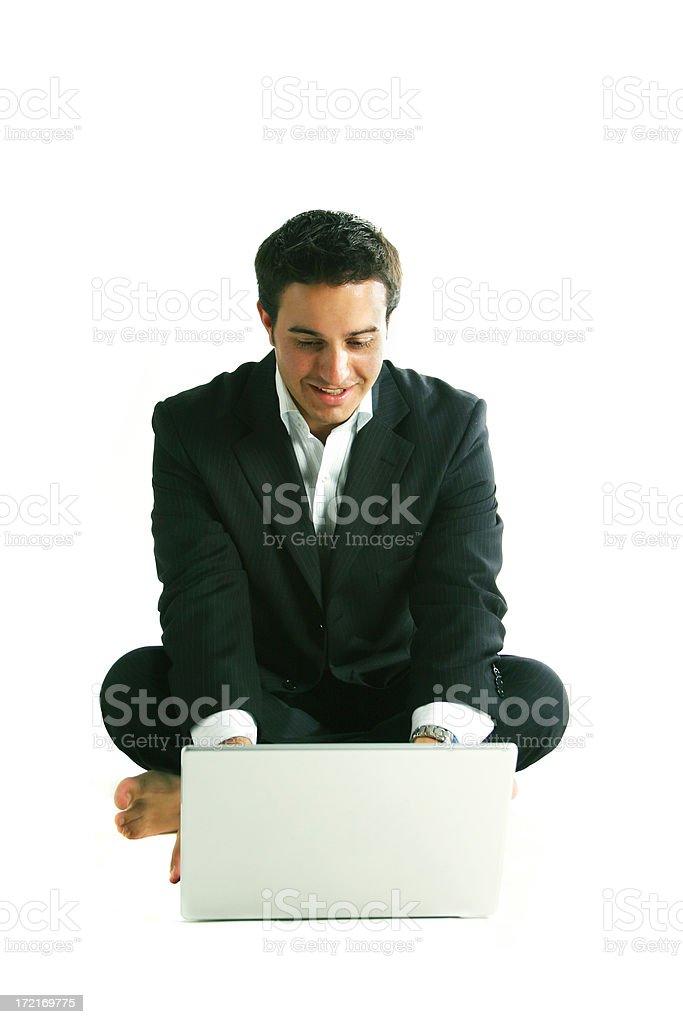 Business man sitting royalty-free stock photo