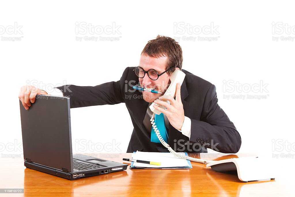 Business man stressed. stock photo