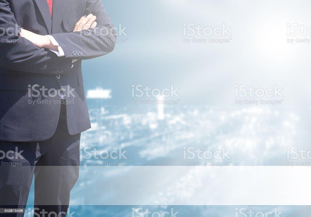 Business man success background. stock photo