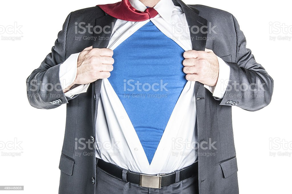 Business Man Superhero stock photo