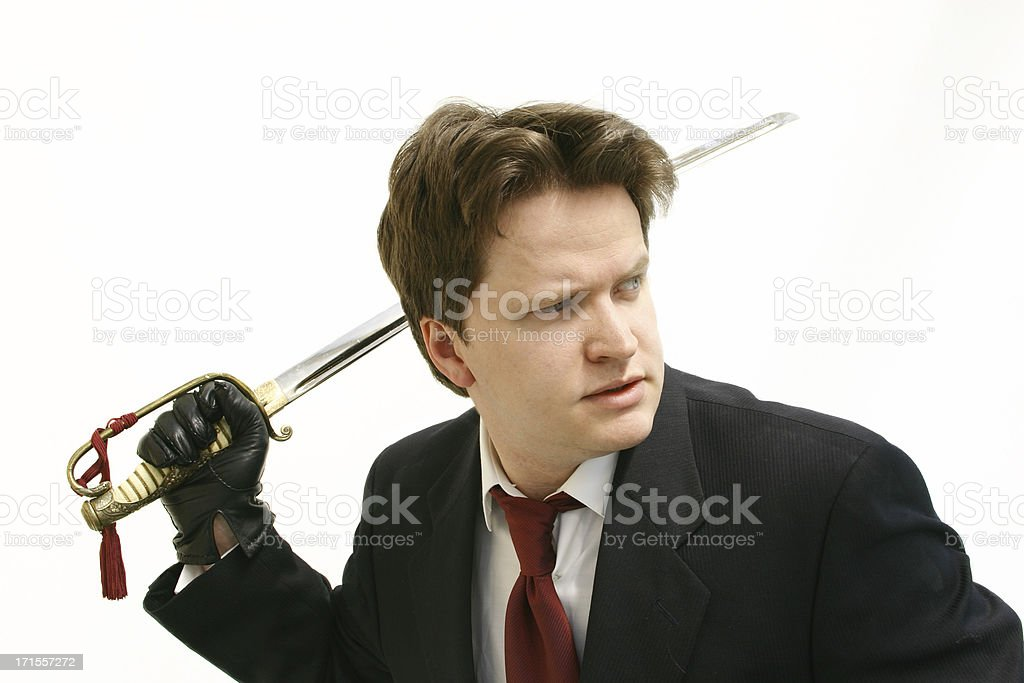 Business man Sword stock photo