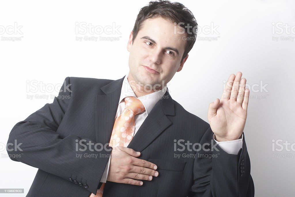 Business man telling the truth royalty-free stock photo