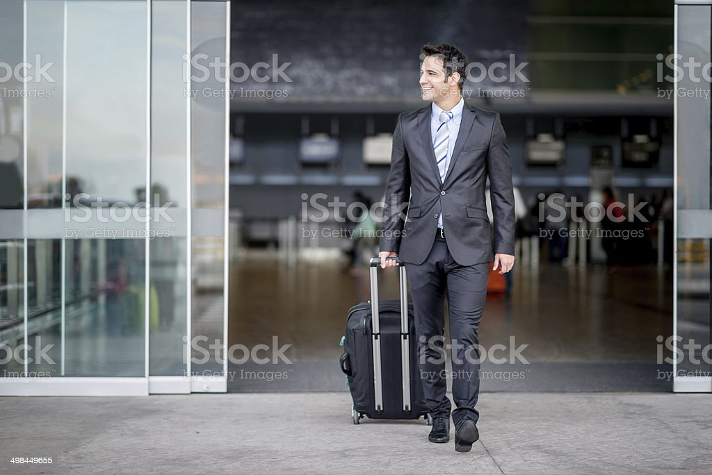 Business man traveling stock photo