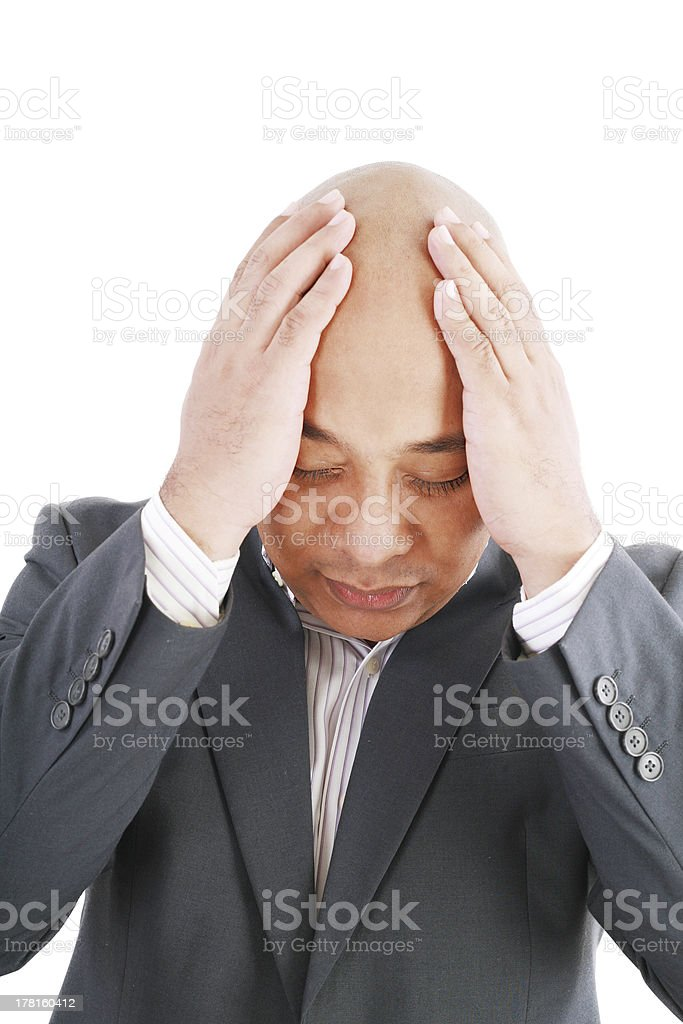 Business man under pressure royalty-free stock photo