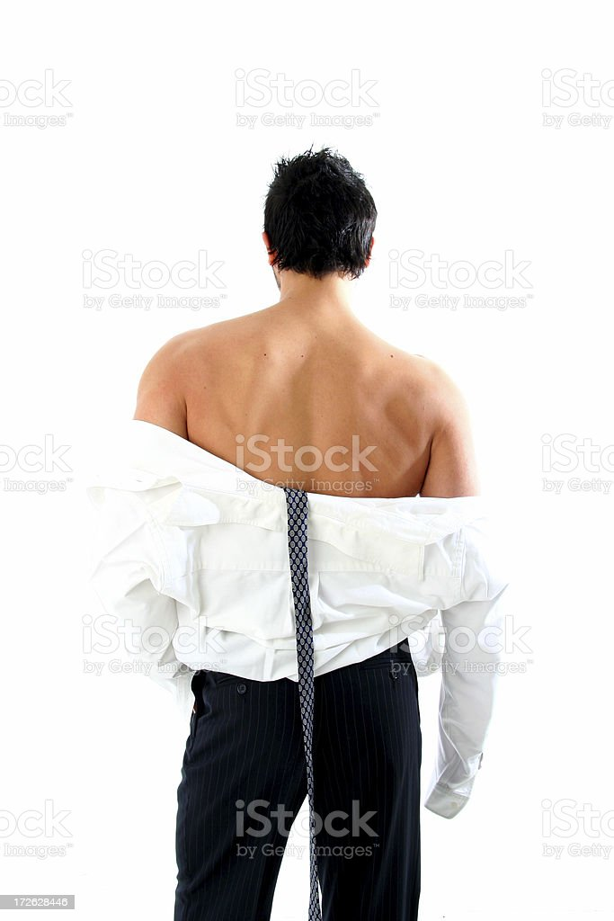 Business Man Undressing royalty-free stock photo