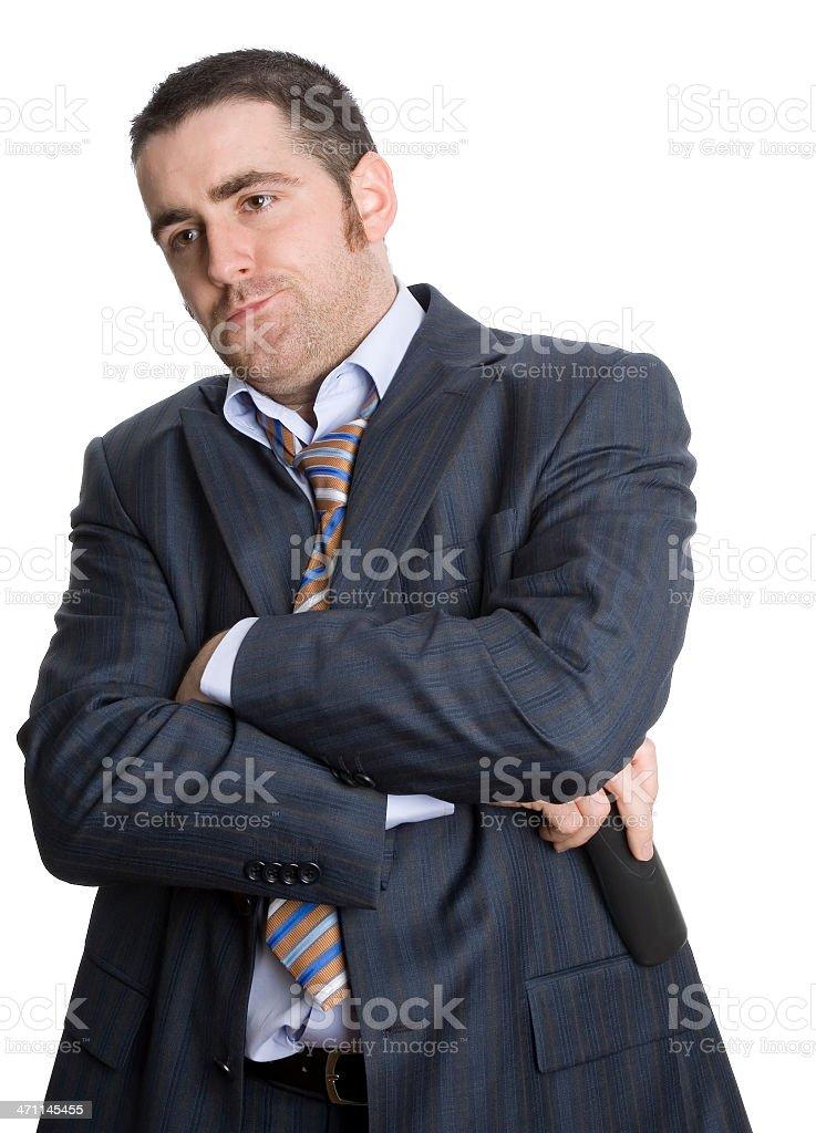 Business man upset royalty-free stock photo
