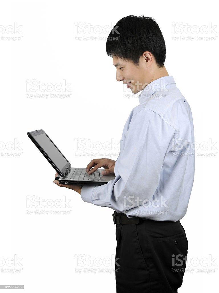 Business Man Use Laptop - XLarge royalty-free stock photo