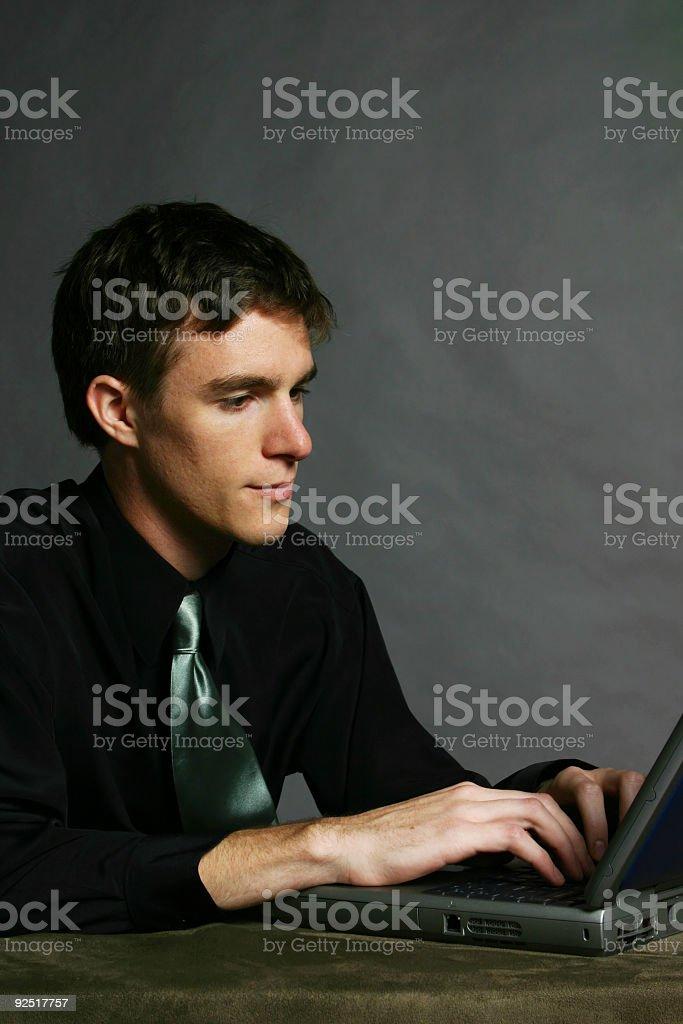 Business - Man using laptop stock photo