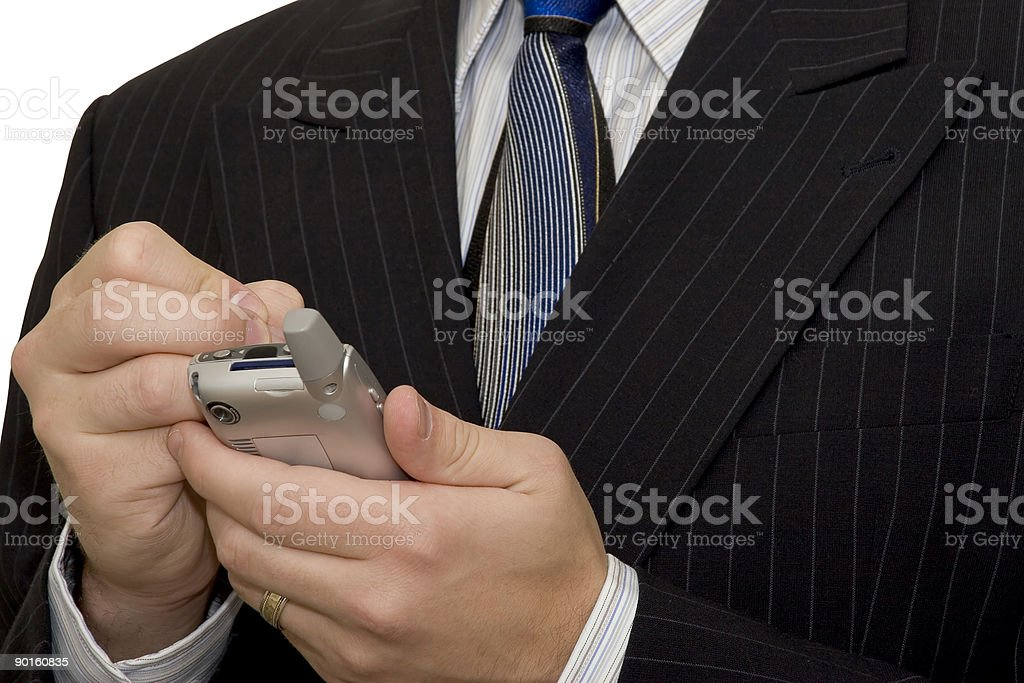 Business man using PDA royalty-free stock photo