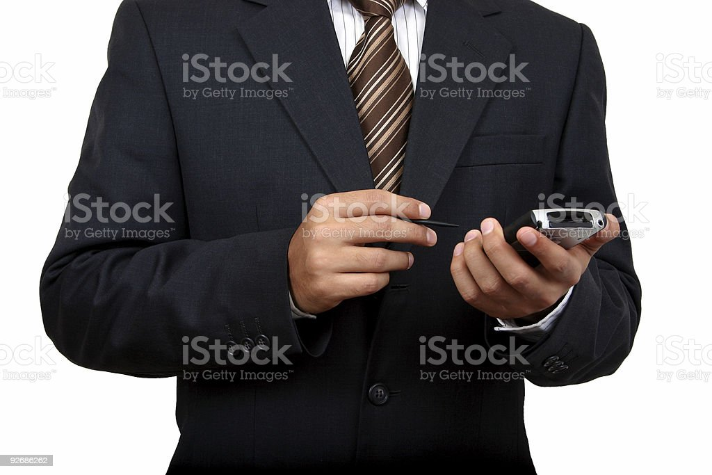 Business man using pda (2) royalty-free stock photo