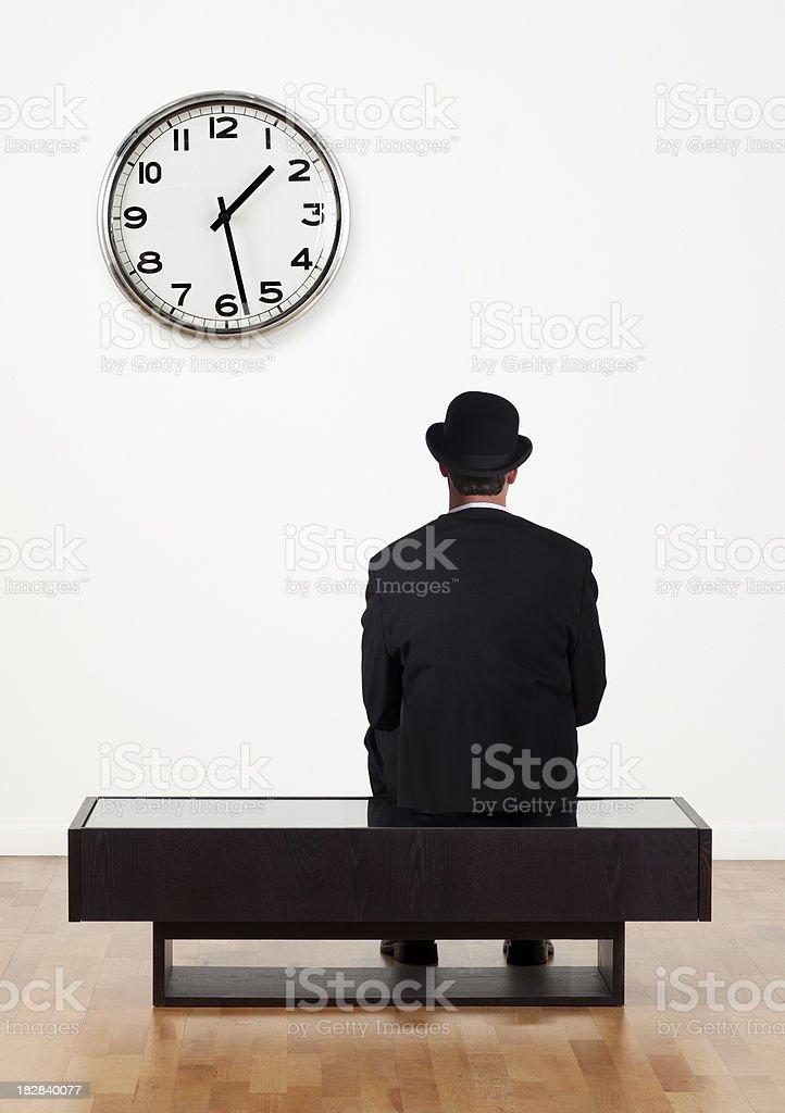 Business Man Waiting royalty-free stock photo