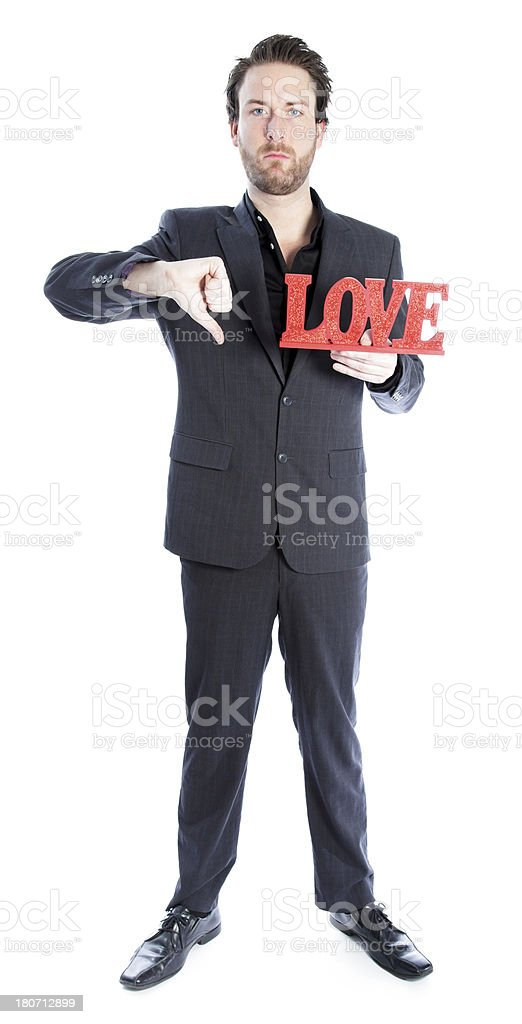 Business man wearing grey suit on a white background royalty-free stock photo