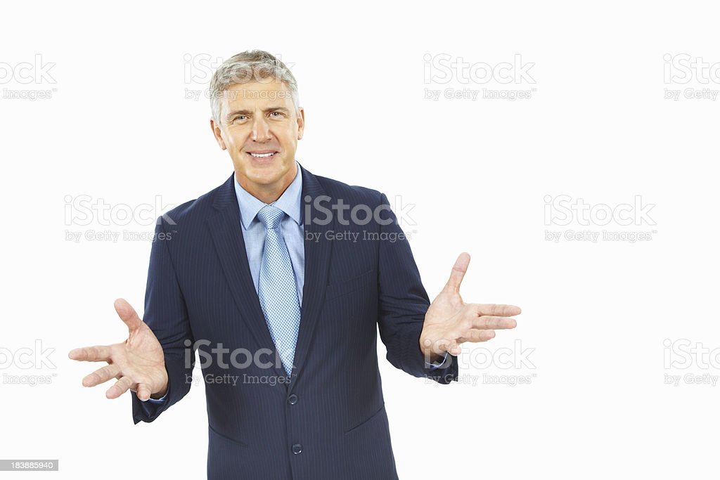 Business man with a confident smile royalty-free stock photo