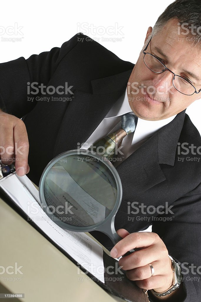 Business man with a contract royalty-free stock photo