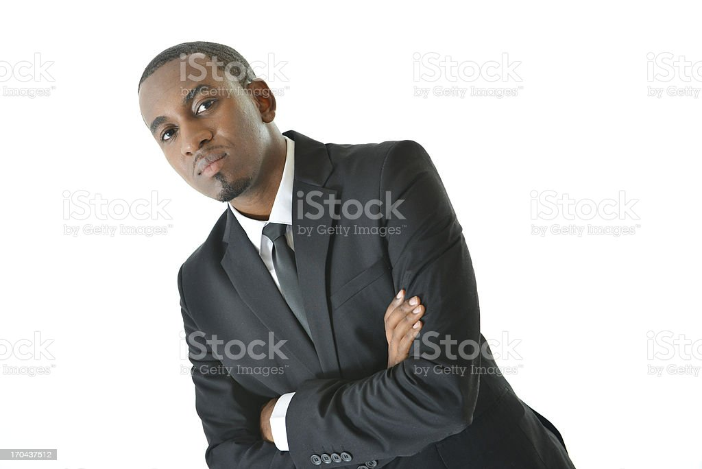 Business Man with a Serious Expression royalty-free stock photo
